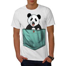 885081e27 Wellcoda Cute Lil Panda Mens T-shirt, Pocket Bear Graphic Design Printed Tee  Mens 2018 fashionable Brand 100%cotton hip hop funny tee