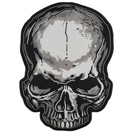 $enCountryForm.capitalKeyWord UK - Skull Embroidered Patch Iron On Back of Jacket Patch Black Twill Fabric Free Shipping Custom DIY