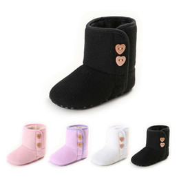 Fashionable Snow Boots NZ - Baby Boats Shoes Breathable Autumn Winter Fashionable Design Snow Boot Knitted Cotton Soft Sole Shoes Keep Warm In Winter