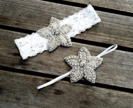 Christening Hair Australia - Naturalwell Vintage Kids rhinestone Headband Girls baptism christening headbands Little girls birthday hair accessory 1set HB096