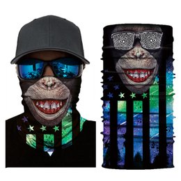 $enCountryForm.capitalKeyWord NZ - 3D Animal style Balaclava Bicycle Bandana Face Mask Camping Hiking Scarves Magic Headscarf Neck Warmer Army Headband Bandana