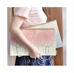 cute calendars Australia - 1 Pcs set Novelty 2018 Creative luminous calendar Large Desktop PaANew Planner 2018 Daily Plaper Calendar dual Daily Scheduler Table Planner