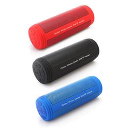 T3 Tragbare Outdoor Wasserdichte Lautsprecher Drahtlose Bluetooth Lautsprecher Stereo Spalte Box Lautsprecher 10 Watt mit AUX / TF / FM Raduo