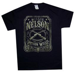 $enCountryForm.capitalKeyWord Australia - Willie Nelson Shotgun 1973 Mens Black T Shirt New Official Adult Country Rock Tees Shirt Men Boy Designer White Short Sleeve Custom Plus