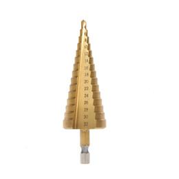 $enCountryForm.capitalKeyWord UK - Hex Titanium Step Cone Drill Bit Hole Cutter 4-32MM HSS4241 For Sheet Metal Woodworking