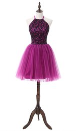 $enCountryForm.capitalKeyWord UK - Elegant Jewel Women Homecoming Dresses A-line Shining Sequins Lace Hollow Back Dresses for Cocktail Mini Prom Dresses Maid Of Honor Gowns