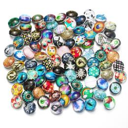 $enCountryForm.capitalKeyWord NZ - 100pcs lot Mixed Many Styles Snaps 18mm Glass Snap Button Fit Choker Buttons Watch Button Bracelet Snaps Jewelry 7852