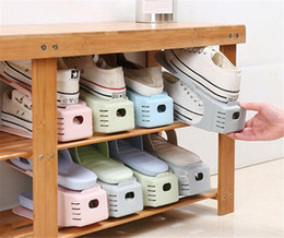 Discount clothes japan - Hot Housekeeping Durable Plastic Shoe Organizer Detached Double-Wide Shoe Storage Rack Modern Double Cleaning Storage Sh