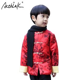 d9503cb3b ActhInK New Winter Children Chinese Style Coat Boys Cotton Padded Hanfu  Coat Kids China New Year Costume Boys Tang Dragon