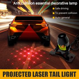 Project Light Car NZ - warning light led Hippcron Projected Laser Tail Light Anti-Fog Anti Collision Rear-End Car Led Waterproof Fog Lamp Auto Rearing Warning 12V