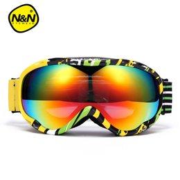 ski big goggles 2019 - NANDN Ski goggles double UV400 anti-fog big ski mask glasses skiing men women snow snowboard goggles NH8002 cheap ski bi