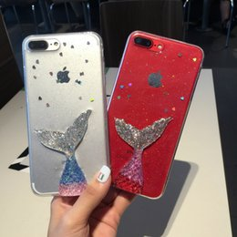 Fashion Phone Case Rhinestones NZ - Bling Mermaid Tail Phone Case for iphone X 8plus Fashion Clear Soft TPU Back Cover for Apple iphone 8 7 6 6s plus