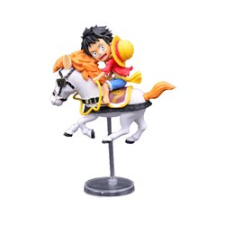 Box Carriage UK - One Piece Luffy Riding Flying Christmas Restricted Straw Hat 20th Annivers Carriage Boxed Handmade Model Toys Product Height 12cm