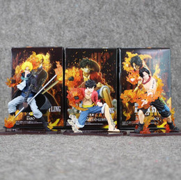 $enCountryForm.capitalKeyWord NZ - 9-14cm 3Pcs Lot New Hot Japan Anime One Piece DXF Luffy Ace Sabo PVC Action Figures Collectible Model Toys For Kids