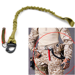Wholesale guns safety for sale - Group buy Tactical Survial Sling Strap Quick Release Strap Gun Sling Safety Lanyard Outdoor Mountaineering Camping Climbing Bungee Sling