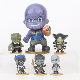 wholesale plastic figures Australia - 6 Style Avengers 3 Infinity War Plastic Doll toys 5-9cm New kids avenger Cartoon Thanos Corvus Glaive Ebony Maw Figure Toy B