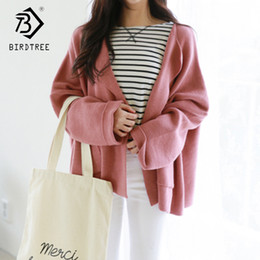 Discount hot pink computer - 2018 New Arrival Women's Solid Sweater Full Sleeve Elegance V Neck Knitted Sweet Long Tops Slim Women Clothing Hots
