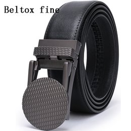 leather ratchet belt NZ - Men's Leather Ratchet Belt Dress with Slide Click Buckle 28-58'' Belts for Men Big and Tall Ceinture Homme Cheap Mens Ratchet Belts