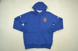$enCountryForm.capitalKeyWord Australia - full zip Segunda Division 17-18 Zaragoza blue ZNE hoody hooded jackets rugby jacket free shipping size S-XL