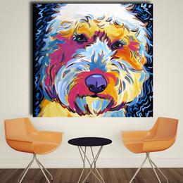 pop art canvas prints 2019 - Animal Golden doodle Dog Pop Art Portrait Oil Painting Wall Painting on Canvas Art Prints for Living Room Home Decor che