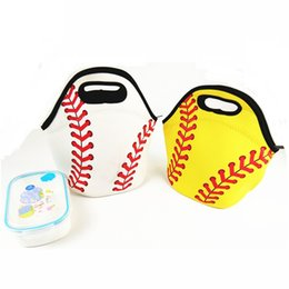 $enCountryForm.capitalKeyWord Canada - Wholesale Neoprene Softball Lunch Bag Cooler Bag Food Carrier Team Accessories Carrier Tote Can Be Embroidery LX0373