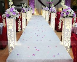 Lead Lighting designs online shopping - Wedding Stage Stand with LED Light Wedding PVC board Pillar with Carved Heart Design Flower Stand Road Lead