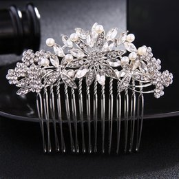 Silver Hairpiece NZ - Fashion Crystal Bridal Wedding Hair Accessories Rhinestone Hair Jewelry Ornament Silver Color Hair Combs Women Hairpieces JCH142