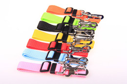 Clip Nylon Dog Collar Australia - Colorful Pet Dog Collars Outdoor Pets Dogs Car Seat Belt For Seatbelt Harness Lead Clip Creative Pet Supplies