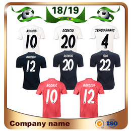 162a81db737 2019 Player Version Real Madrid Soccer Jersey 18 19 Home KROOS MODRIC RAMOS Soccer  Shirt MARCELO ASENSIO ISCO Away 3rd Football uniform
