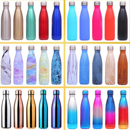 StainleSS double wall water bottle online shopping - Cola Shaped Water Bottle Vacuum Insulated Travel Water Bottle Double Walled Stainless Steel Coke Thermos Outdoor Water Bottles ml oz