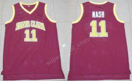 $enCountryForm.capitalKeyWord Canada - Nash College Jerseys Santa Clara Broncos Basketball 13 Steve Nash Jersey Red For Sport Fans Uniforms Team Color Breathable Good Quality