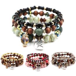 b934d3882838 2018 moda Bohemian Stretch Bead multicapa de cristal pulseras con cuentas  filamentos brazalete de regalo para las mujeres