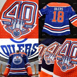 ae820d276 2018-19 40th Anniversary 1917-2019 Patch Edmonton Oilers Retro Jersey  Connor McDavid Ryan Nugent-Hopkins Leon Draisaitl Milan Lucic Talbot