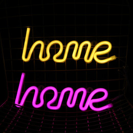 neon wall lamps Australia - hohappyme Hot INS HOME Neon Signs For Room Lamp Wall Lights Bedroom Decoration Decorative Plates Home Decor 35x12.5x2 CM