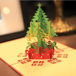 discount christmas greeting cards messages 3d merry christmas tree greeting cards postcards thanksgiving souvenirs birthday - Cheapest Christmas Cards