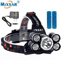 Cree Xm L T6 Battery Australia - EZK20 Led Headlight Headlamp Cree XM-L T6 4Q5 14000LM 4 modes Head Lamp Light Torch Lantern +2x18650 battery+EU US AU UK charger