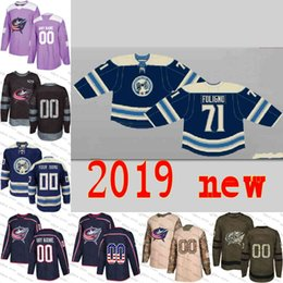 2019 New Columbus Blue Jackets Nick Foligno Cam Atkinson Sergei Bobrovsky  Brandon Saad Scott Hartnell custom Hockey Jerseys Embroidery S-3XL foligno  jersey ... c7c4af455