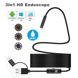 camera for peugeot 2019 - LONGFENG LF58 Endoscope Lens 2m Waterproof Mini HD Camera Snake Tube 5.5 mm Rigid Cable USB Inspection LED Borescope for