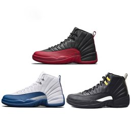 rubber games 2018 - 2018 New Release Mens Basketball Shoes Genuine Leather 12s French Blue Flu Game The Master Mens Outdoor Sports Sneakers