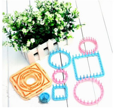 Wholesale 9Pcs Knitting Loom Flower Daisy Pattern Maker Wool Yarn Needle Knit Hobby Loom Knitting Machine Sewing Tools Color Random