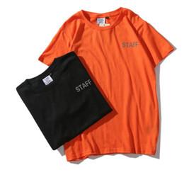 Print Quality Lycra T Shirts UK - High Quality Europe Fashion Summer Tee VETEMENTS Print Skateboard T-shirt Men Women STAFF Casual Short Sleeves Cotton Tee