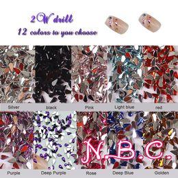 $enCountryForm.capitalKeyWord NZ - 10000pc bag Water Drop Teardrop Nails Jewelry Accessories Crystal 3D Nail Rhinestone Shiny Nail Art Tips Decoration Tools