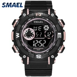$enCountryForm.capitalKeyWord Canada - SMAEL Casual Sport Watch Men 50m Waterproof LED Digital Wristwatch S Mens Watches Male Clock relogio masculino