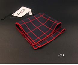 Dark Green Tie Grey Suit Canada - Men's Stripe cravat scarf Handkerchiefs for Women Cotton Pocket Square Small Hankies Men Square Pockets Hanky Handkerchief for Suits Ties