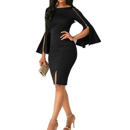 $enCountryForm.capitalKeyWord UK - KLV Womens Zipper Fashion Ladies Evening Party Dress 2018 summer sexy dress women dress for women women's dresses in big sizes