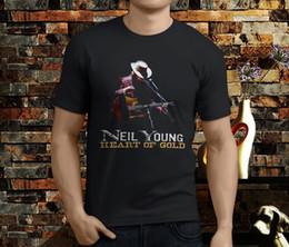 Music Man T Shirt Australia - New Neil Young Crazy Horse Zuma Heart Of Gold Music Men's Black T-Shirt Size S To 3XL High Quality For Man Better