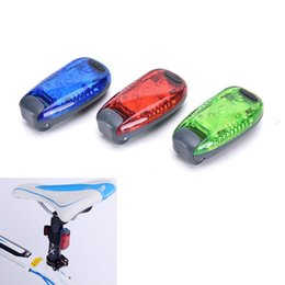 Wholesale 3 LED Light Clip on for Running Bike Rear Lamp Cycling Jogging Safety Warning SE Easy yo use stays on securely Outdoor Cycling