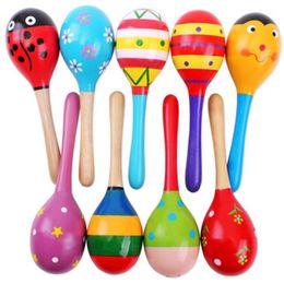$enCountryForm.capitalKeyWord Australia - Happy Baby Christmas Toys Colorful Wooden Maraca Baby Infant Musical Developmental Rattle Shaker Party Toy 1PCS