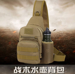small swim bag Canada - Outdoor shoulder bag mountaineering riding chest bag with kettle tactics small backpack sport-slung bag