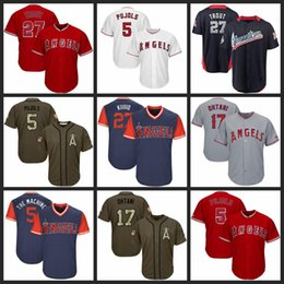 4bf9cef0 Men Women Youth Angels Jersey 5 Pujols 17 Ohtani 27 Trout White Gray Grey  Red Green Salute to Service Players Weekend All Star